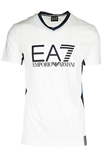 Emporio Armani EA7 t-shirt maglia maniche corte collo a v uomo bianco EU M (UK 38) 3YPTI3 PJD8Z 1100