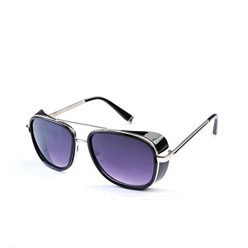 FGRYGF-eyewear Sport-Sonnenbrillen, Vintage Sonnenbrillen, Sun Glasses Iron Man Tony Stark Sunglasses For Men Women Vintage Steampunk Classic Steampunk Mirror SI21 7