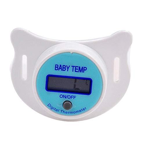 Baby-Thermometer-Digital-Soft-Schnuller-Thermometer LCD-Anzeige Sicher Beruhigungssauger Kinder Nippel Temperaturmessfunktionen mit Batterie (blau) Hohe Qualität, praktisch, die Sie verdient haben - Digitale Baby Schnuller-thermometer