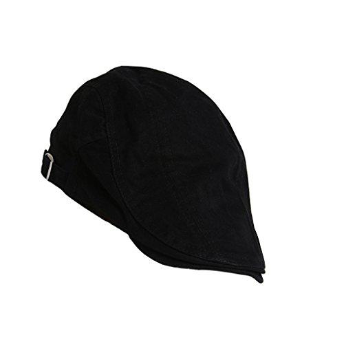 Schwarze Gerste (Unisex Erwachsene Schiebermütze Flache Kappe Schirmmütze Flatcap Gatsby Wollmütze Golfermütze - Schwarz, one size)