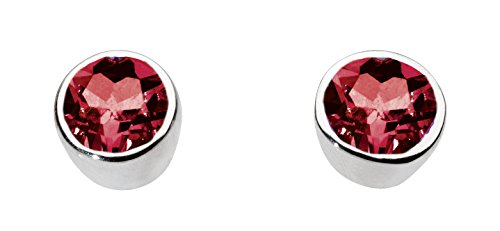 dew-sterling-silver-and-garnet-round-stone-stud-earrings