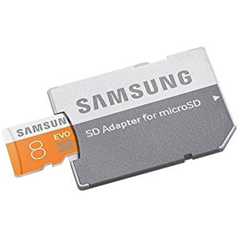 Samsung Evo MB-MP08DA/EU - Tarjeta de memoria micro SDHC de 8 GB (UHS-I Grade 1 Clase 10, con adaptador