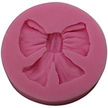 joyliveCY color al azar 3d Bowknot Flor Silicona Fondant molde para tartas decoración de chocolate molde