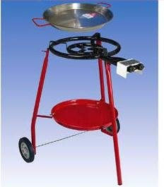 Winter Professional Gas Burner Paella BBQ Set on Wheels with including 2Pans Sizes 42cm and 60cm Connector Hose and