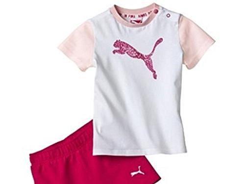 Puma Ess Set Trainingsanzug Kinder Pink