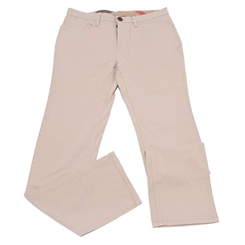 BURBERRY 0940X Pantalone 5 Tasche Uomo BRIT beige Trouser Cotton Men [32R]
