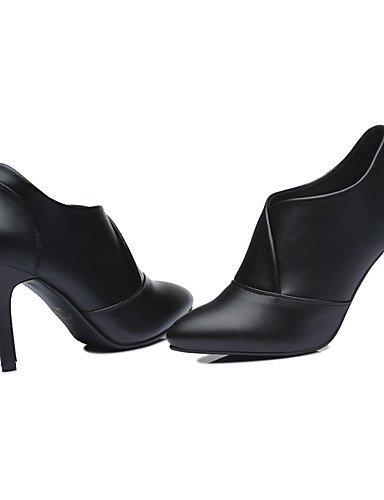 WSS 2016 Chaussures synthétique de bureau talons printemps / automne / hiver des femmes&carrière / partie&stiletto soir talon fendu joint black-us8 / eu39 / uk6 / cn39