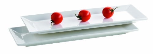 MÄSER Serie Trendy Line, Teller rechteckig 38 x 13 cm, im 2er-Set