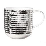 ASA 19115014 Henkelbecher/Kaffeebecher / Becher - COPPA - Porzellan - schwarz/weiß - Ø 9,2 cm - Höhe 9,5 cm - 0,4 l