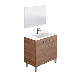 Mueble de baño 2 Puertas + Lavabo (NO clásica cerámica) + Espejo – Grifo Moderno Incluido