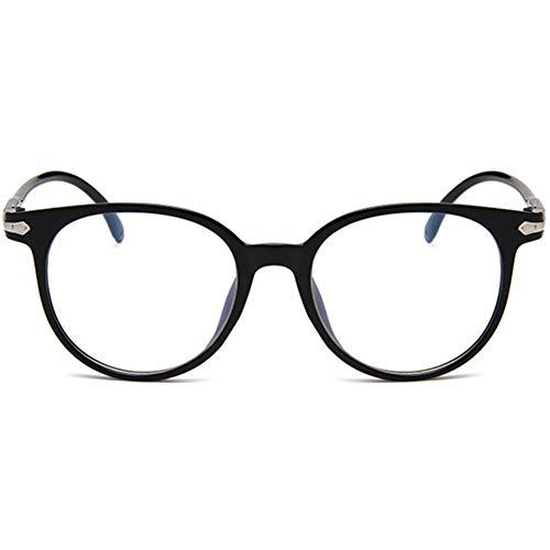 YUNCAT Klassische Nerdbrille ellipse Vintage Look clear lens Federscharniere Brillen