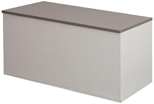 Symbiosis 4007a2191a00Zeitgenössische Premiumqualität Schuhbank Taupe/weiß 89x 39,2x 43,2cm