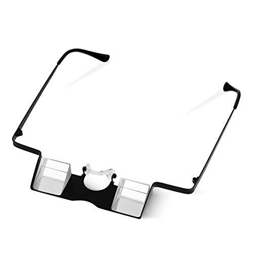 Igoera Sicherungsbrille mit hochwertigem Metallrahmen zum Klettern und Bouldern | erhöht die Sicherheit und verhindert Nackenschmerzen | Kletterbrille inkl. Band, Etui, Putztuch, Karabiner
