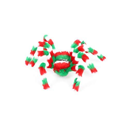 1Anberi Halloween-Spinnen Mehrfarben mit furchterregenden roten Augen Halloween-Spinne im Freien Scary Prop für Draussen Hof Party-Dekor Fenster - Hunde Im Spider Kostüm