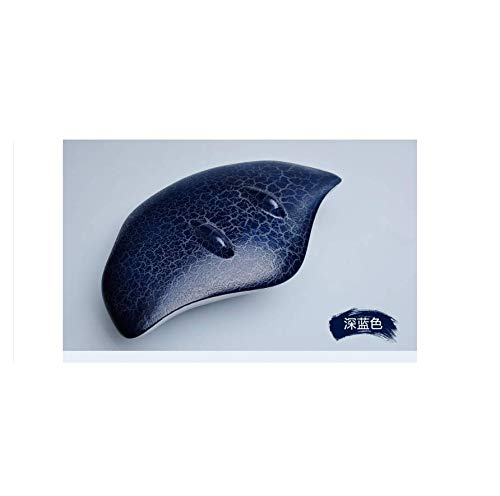 Bluetooth Lautsprecher Mini Wireless Crack Teufel Fisch Tragbare belichtete kreative Geschenk, blau