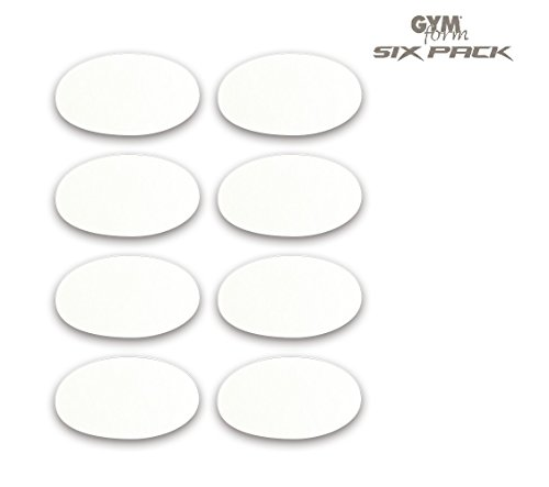 GYMFORM Six Pack 8 Stk. Ersatzpads Klebepads für Ihren GYMFORM SIX PACK Bauchmuskeltrainer | universell einsetzbar ohne Gel | Das Original aus dem TV von Mediashop (Six Pack-tasche)
