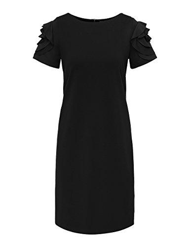 APART Fashion Damen Kleid Schwarz (Schwarz)