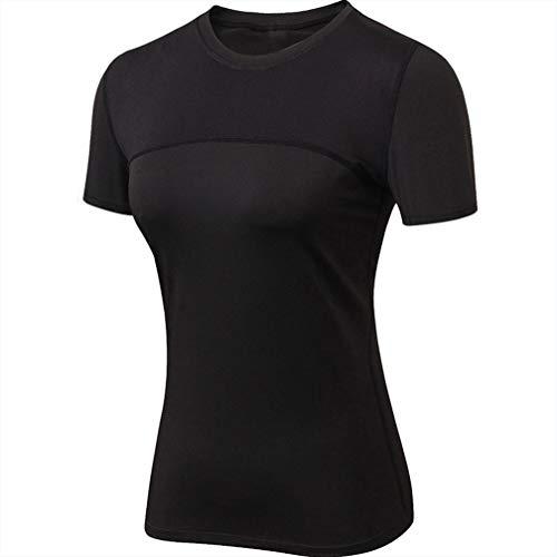 Laufende Yoga-shirt (Secret night Laufendes Fitness-Yoga-T-Shirt Für Damen Im Sommer Mit Schnell Trocknendem Stretch-Kurzarm-Mesh,03,M)