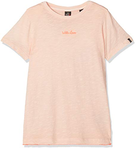 Scotch & Soda R´Belle Mädchen Regular fit Short Sleeve Tee with Contrast Embroidered Hem Sport Tank Top, Rosa (Light Maloja Pink 2533), 164 (Herstellergröße: 14) -