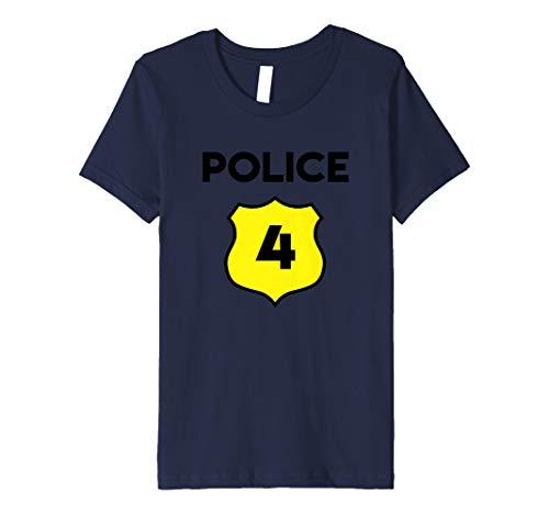 Kinder Kinder Polizei Kostüm T-Shirt 4. Geburtstag–Vierte Vier -