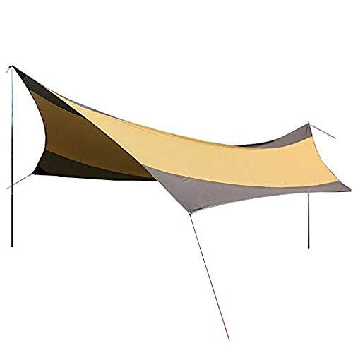DWhui Tragbarer Outdoor-Sat-TV Camping Tent Tarp, 5-8 Person wasserdichter Sonnenschutz mit Polen große superleichte Pergola -