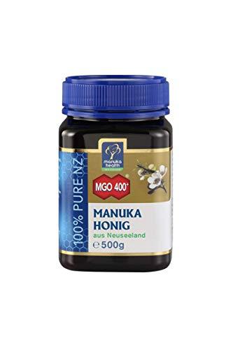 Manuka Health - Manuka Honig MGO 400 + 500g - 100% Pur aus Neuseeland mit zertifiziertem Methylglyoxal Gehalt - Alle Natürlichen Tee