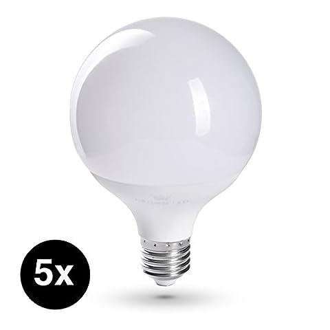 CROWN LED Lampen | 5 Stück | E27 | 11W