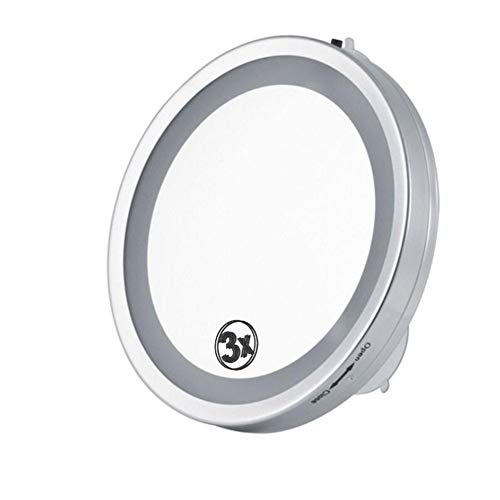ZNDDB Kosmetikspiegel, Lupe 3X mit Saugnapf, an der Wand befestigter, einseitiger 6-Zoll-Kosmetikspiegel für die Wandmontage