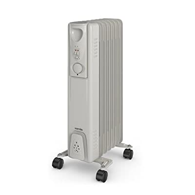 Warmlite WL43003Y 7 Fin Tall Oil Filled Radiator, 1500W - White by Warmlite von Warmlite bei Heizstrahler Onlineshop
