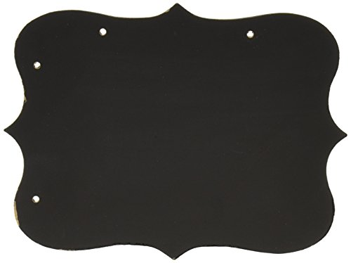 EK Tools 55-32016 Kreidetafel, Rechteck mit Zierrand, Hochzeitsgästebuch, Medium, Holz, schwarz, 0.27 x 20.16 x 16.76 cm