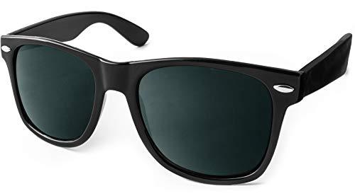 UVprotect Sonnenbrille retro Design Herren und Damen W100-Schwarz