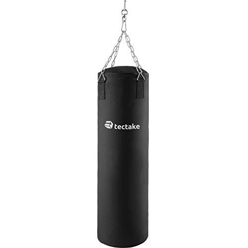TecTake Boxsack gefüllt mit 25kg inkl. Halterung mit Stahlkette, Drehwirbel und Karabiner | Höhe: 105 cm