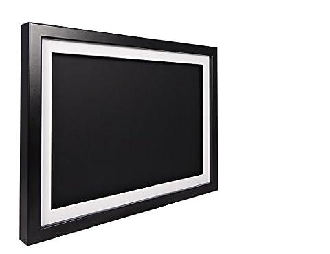 Vivarti TrueBox 3D Shadow Display Picture Frame A3 29.7 x 42cm - Black Frame, White Mount, Black Backing Card