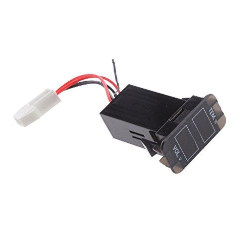Portato Voltmetro Termometro Digitale Batteria Per Toyota Prado Serie 120