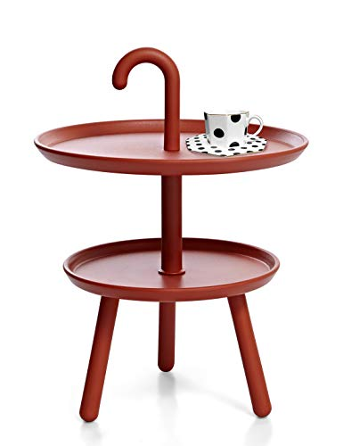 Suhu Table Basse Petite Ronde De Jardin Table Dappoint Plastique pour Exterieur De Balcon Salon Mini Tables Basses Enfant De Camping Bistrot Atmosphera Table D appoint Rond Terrasse Rouge