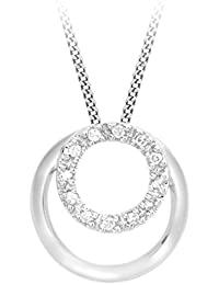 Carissima Gold - Collier - Femme - Or Blanc 375/1000 (9 cts) 0.82 gr - Diamant - 46 cm
