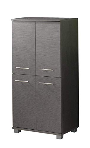 Schildmeyer Highboard 120245 Isola, 60x32.5x117 cm, esche grau Dekor -