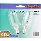2x Supalite 40W Cooker Hood Lamps 240V SES Base -