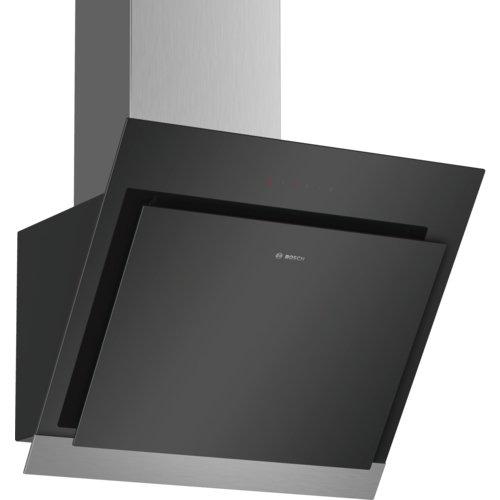 Bosch DWK67HM60 Dunstabzugshaube/Serie 4 Wandesse/60 cm/Schräg-Essen-Design/schwarz
