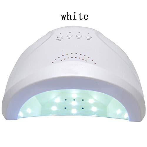 Secador ligero ULTRAVIOLETA de la lámpara del clavo del LED para el esmalte de uñas del gel que cura el tamaño grande profesional para el salón 24W,White