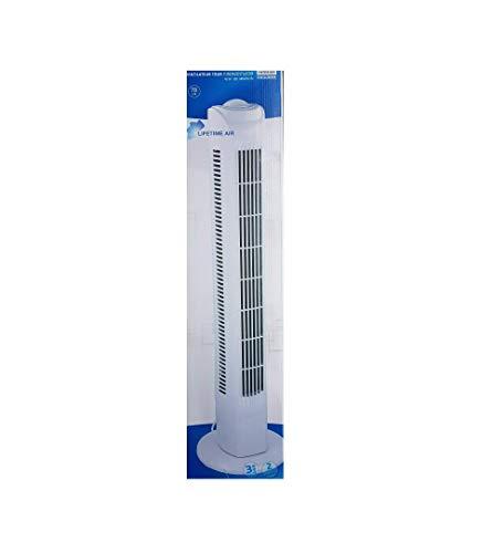 Interior TF35 Säulenventilator Turmventilator 78cm, 3 Stufen Standventilator, Oszillierender Boden Ventilator, Lautstärke max. 57dBA, 45 W, weiss -