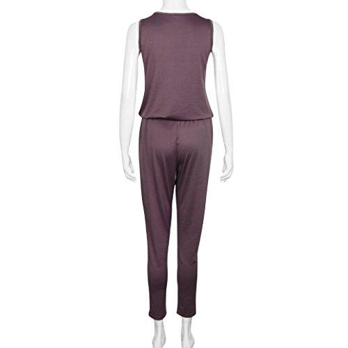 LHWY 2016 Sexy col V Sling Jumpsuit Femmes Mode Siamese Shorts Combinaison de plage Café