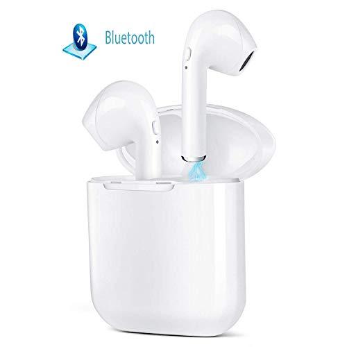 Wincase Wireless Bluetooth Headset In-Ear-Kopfhörer kabellose Headsets Stereo-Mini-Kopfhörer wasserdicht Geräuschunterdrückung für Android Huawei & iOS (Weiß) Bluetooth Stereo Headset Kopfhörer