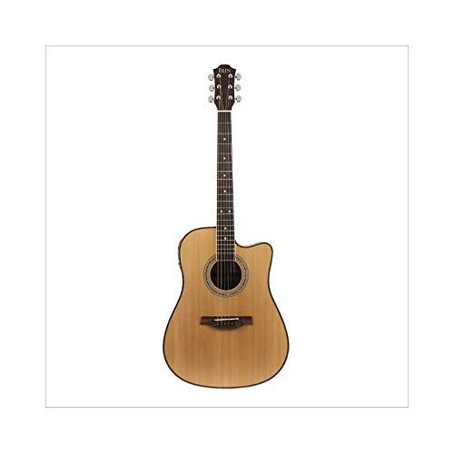 ZGHNAK 41 '' Wooden Folk Guitarra 21 Fret Akustische E-Bass 6 Saiten Konzert Ukulele für Liebhaber von Musiksaiteninstrumenten