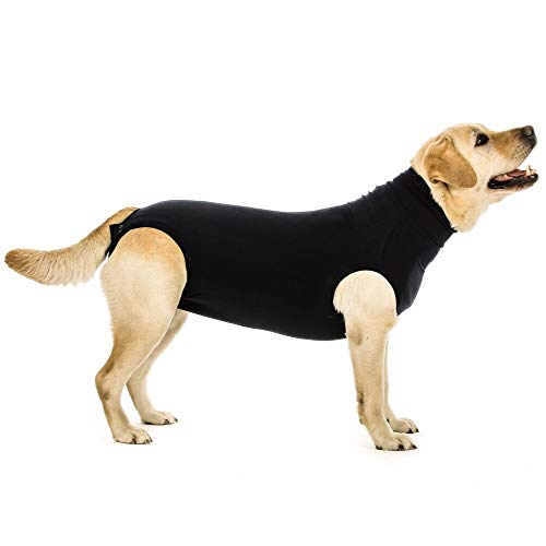Suitical Recovery Suit Hund, S, Schwarz