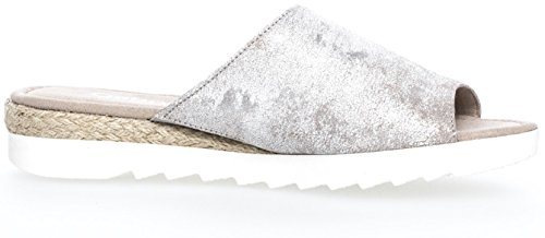 Gabor  62-740-94, Chaussons Mules femme silber (Jute)