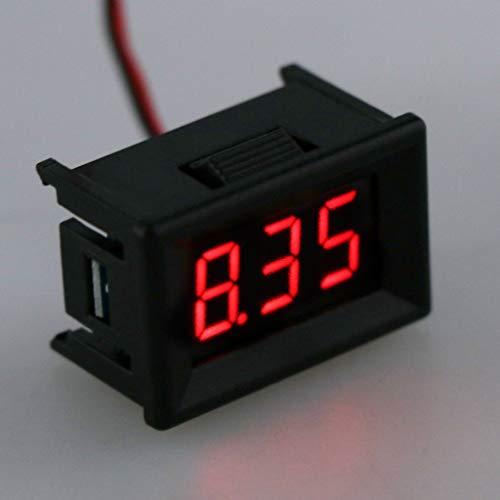 Tajie Spannungsprüfer DC 2,4 V-30 V 2 Drähte Voltmeter Mini 0,36 Zoll Digital Voltage Gauge Meter Für Auto Auto
