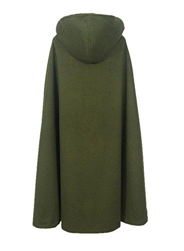 Futurino Damen Winter/Herbst Gotisch Lose Umhang mit Kapuze Mantel Poncho Kap Outwear Strickpulli Longstrickjacke - 4