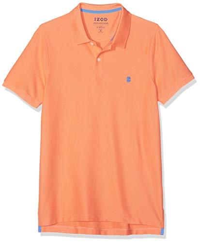 Izod Herren Performance Pique Polo Poloshirt, Orange (Melon 840), Medium (Herstellergröße: MD) - Heritage Rugby Shirt