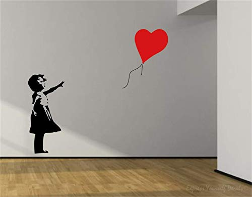 Adesivi da parete citazioni camera da letto soggiorno decorazioni parete palloncino rosso banksy per soggiorno camera da letto